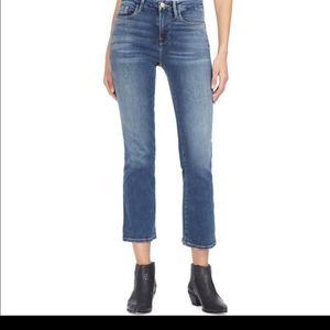 Frame mini boot cut Jeans.